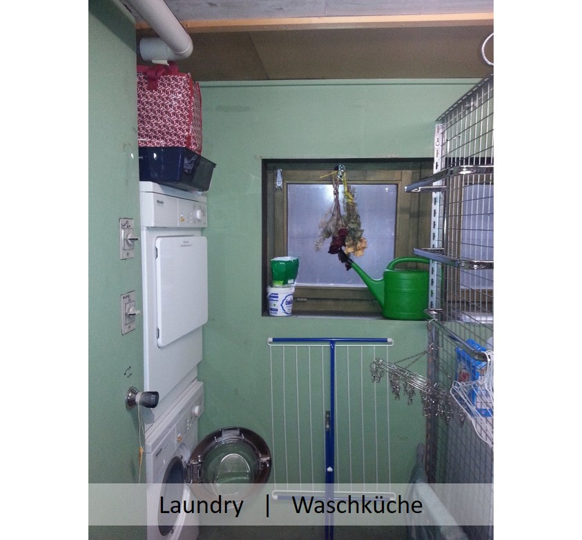 5.	Own lockable Laundry with Washer, Dryer and tub. Available 24/7