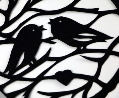 paper cutting birds finished