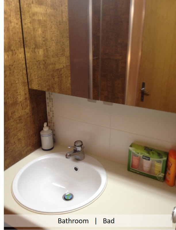 Compact bathroom, with shower, hair dryer, scales, WC